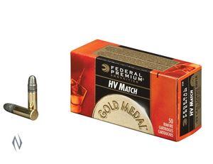 Picture of FEDERAL 22LR 40GR SOLID HV GOLD MEDAL
