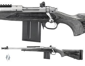 """Picture of RUGER 77 GUNSITE S/S SCOUT 308 18"""" FLASH LEFT HAND RIFLE"""