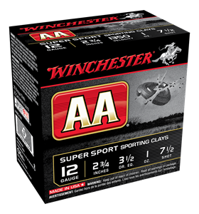 """Picture of WINCHESTER AA SUPER SPORTING 12G 7.5 2-3/4"""" 28GM"""