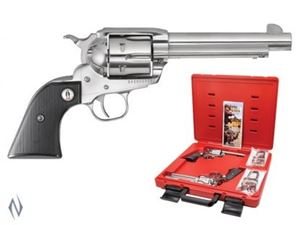 Picture of RUGER VAQUERO SASS (PAIR) 45LC STAINLESS 140MM CENREFIRE REVOLVER