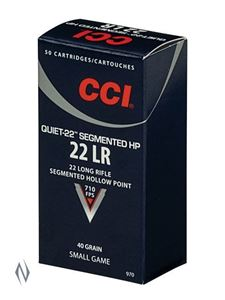 Picture of CCI 22LR QUIET 40GR SEGMENTED HP 710FPS PACK 500