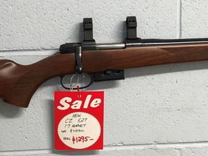 """Picture of """"NEW"""" CZ 527 17 HORNET CENTREFIRE RIFLE"""